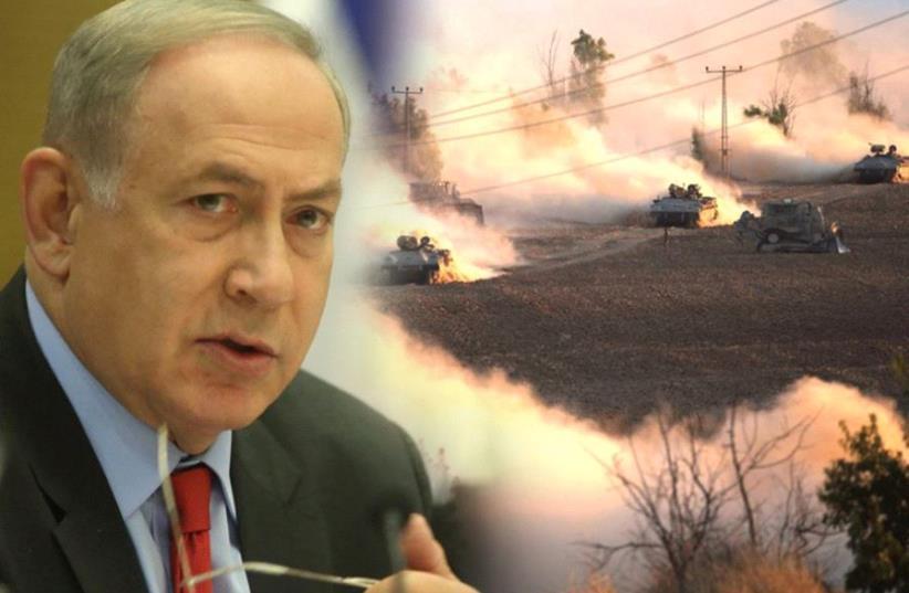 Netanyahu/Protective Edge (photo credit: MARC ISRAEL SELLEM,REUTERS)