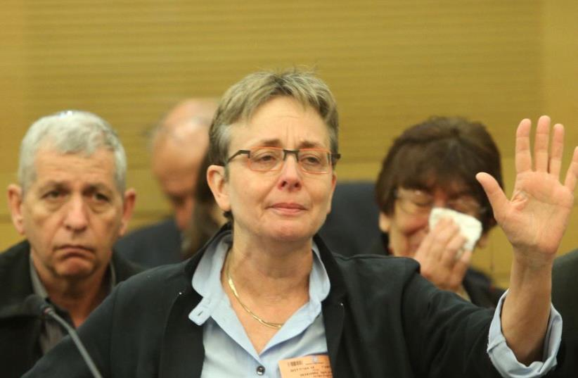 Leah Goldin, the mother of slain IDF soldier Lt. Hadar Goldin (photo credit: MARC ISRAEL SELLEM)