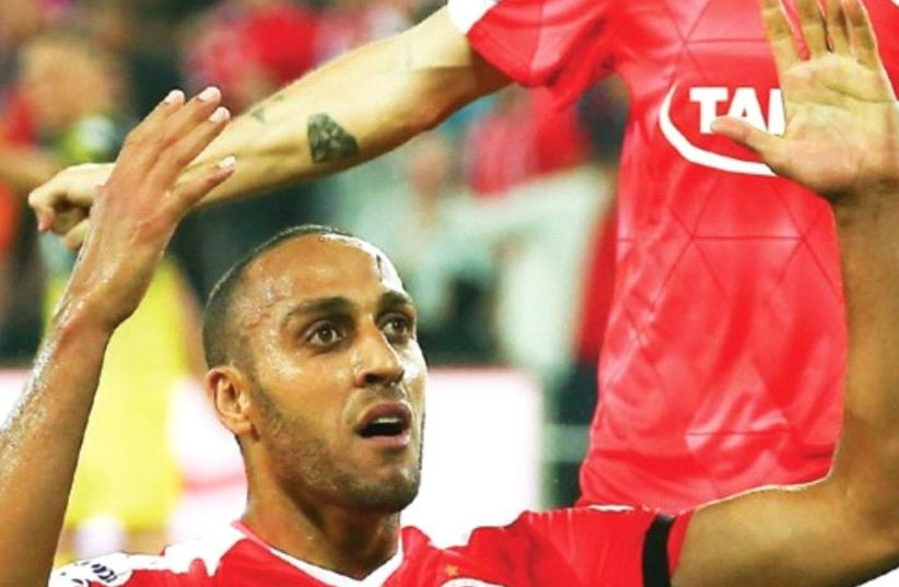 Hapoel Beersheba midfielder Maharan Radi was handed a one-year contract extension on Wednesday, two days after scoring his team's opener in the 2-0 win over Beiter Jerusalem (photo credit: DANNY MARON)