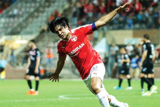 Hapoel Beersheba striker Elyaniv Barda (photo credit: MAOR ELKASLASI)