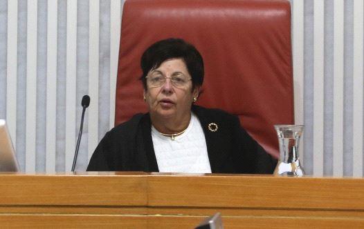 Outgoing Supreme Court President Miriam Naor
