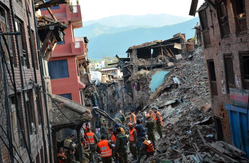 Israeli aid to Nepal  (photo credit: IDF)
