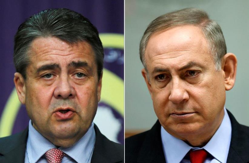 Netanyahu and Gabriel  (photo credit: REUTERS)
