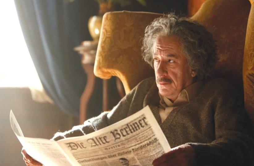 GEOFFREY RUSH stars as Albert Einstein in 'National Geographic's 'Genius.' (photo credit: DUSAN MARTINCEK/NATIONAL GEOGRAPHIC)