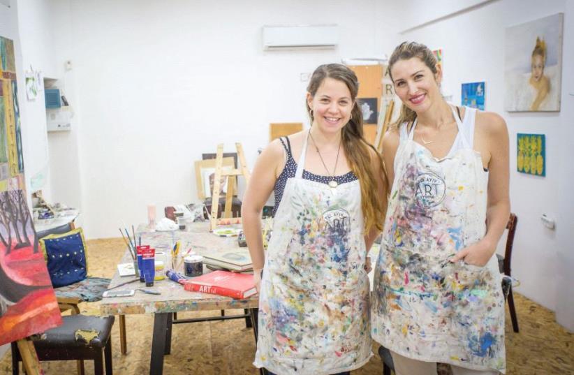 MICHAL BERMAN (left) and Natasha Miller Gutman (right) at their Tel Aviv studio (photo credit: HERSCHEL GUTMAN PHOTOGRAPHY)