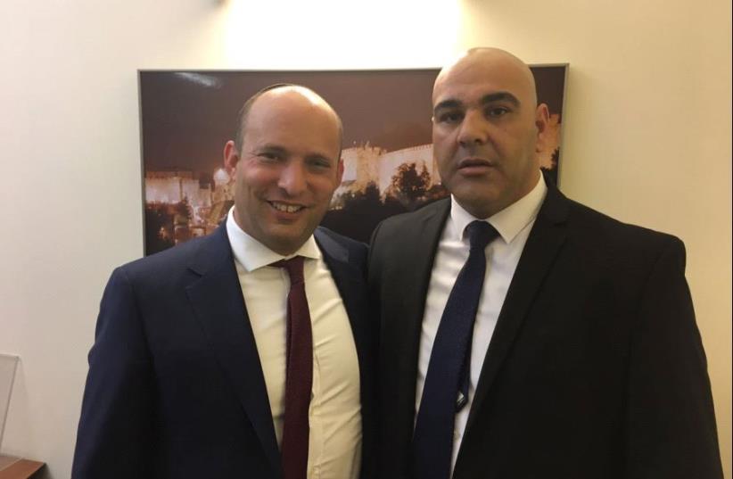 Naftali Bennett and Eyal Assad (photo credit: COURTESY EYAL ASSAD)
