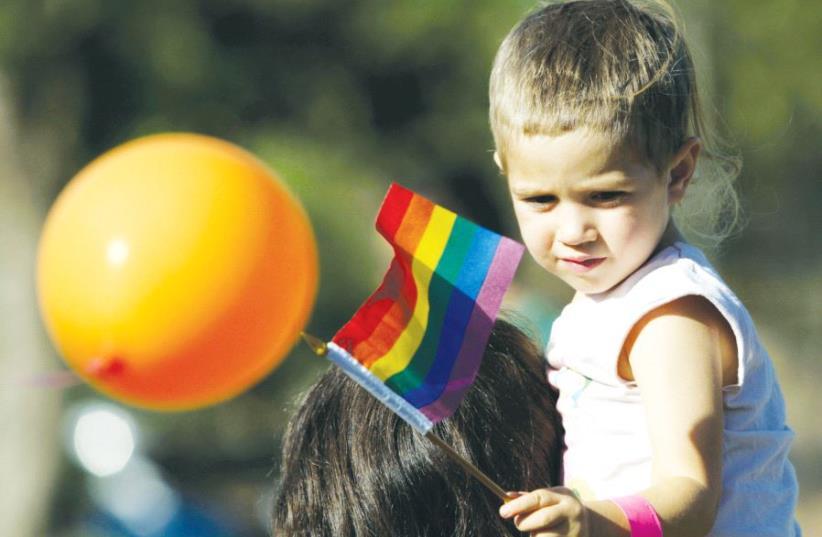 Participants during Jerusalem's annual gay pride parade (photo credit: REUTERS)