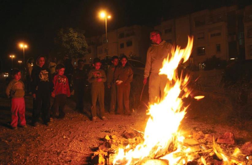 People celebrate Lag Ba'omer (photo credit: MARC ISRAEL SELLEM)