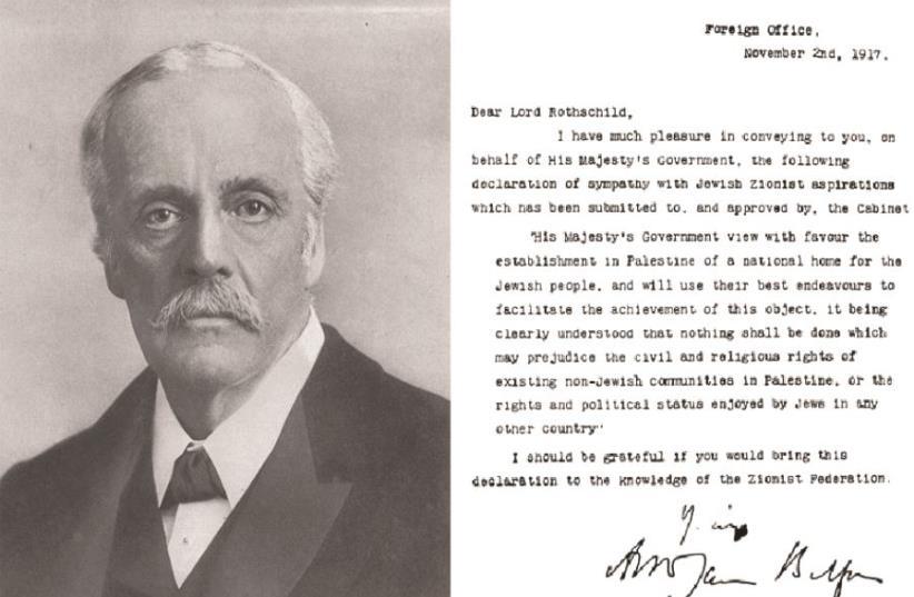 The Balfour Declaration (photo credit: WIKIPEDIA)
