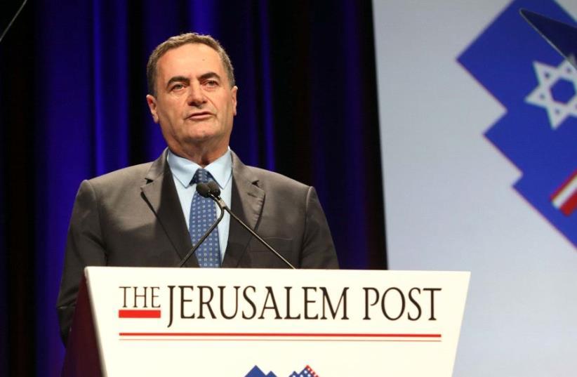 Israel Katz at the JPost Annual Conference 2017  (photo credit: SIVAN FARAG)
