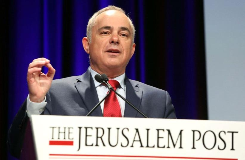 Yuval Steinitz at the JPost Annual Conference 2017  (photo credit: SIVAN FARAG)