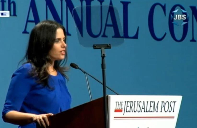 Ayelet Shaked at the 2017 JPost Annual Conference  (photo credit: screenshot)
