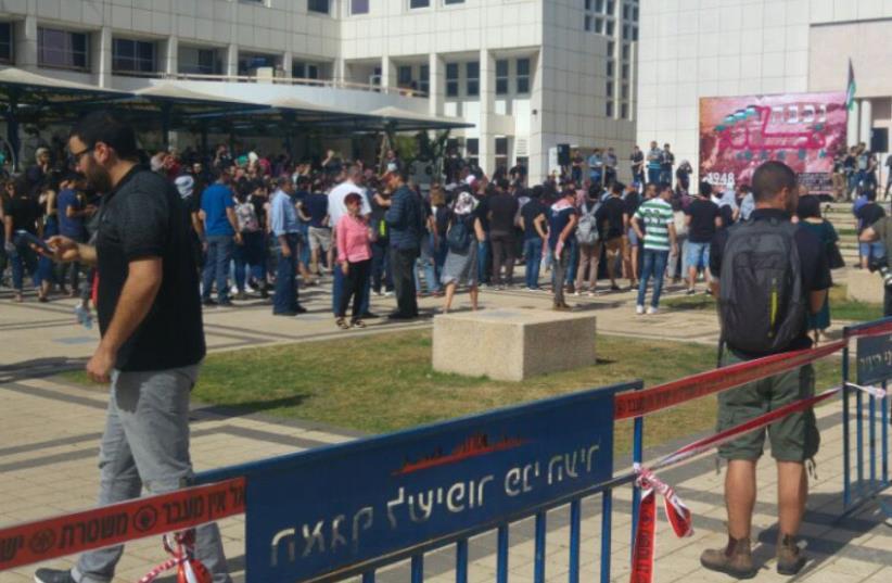 Nakba Day protest at Tel Aviv University (photo credit: DANIEL ALTMAN)