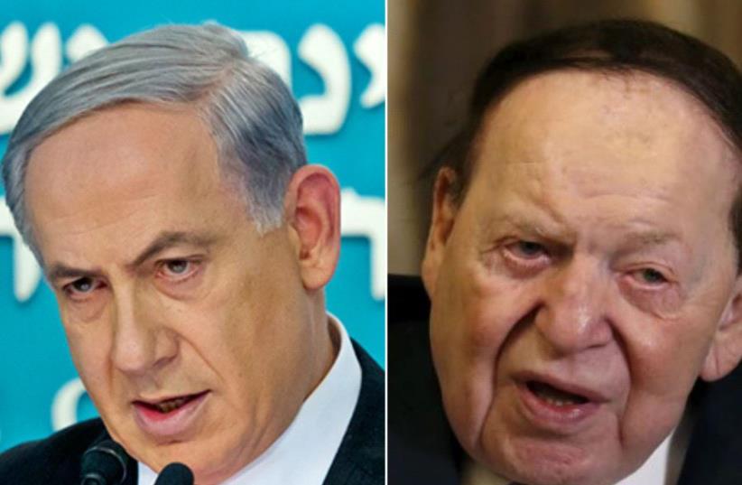 Benjamin Netanyahu and Sheldon Adelson (photo credit: REUTERS)