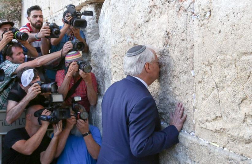 US Ambassador David Friedman at the Kotel (photo credit: MARC ISRAEL SELLEM)