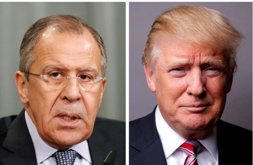 Lavrov and Trump (photo credit: REUTERS)