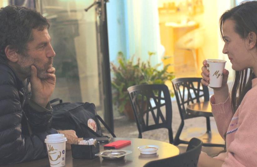 AMERICAN DANCER Bobbi Jene Smith (right) seen here with Batsheva Dance Company artistic director Ohad Naharin in the documentary 'Bobbi Jene.' (photo credit: DOCAVIV)