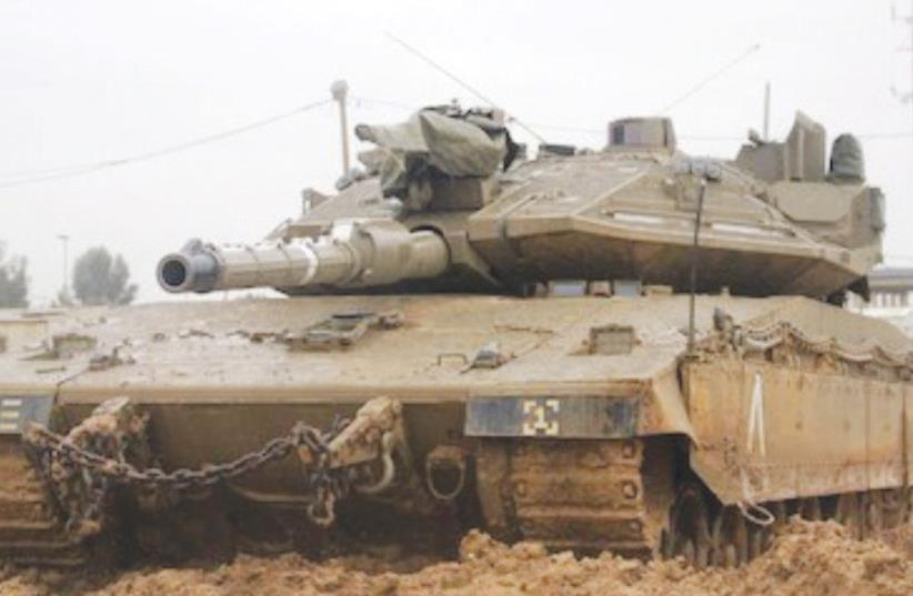 THE MERKAVA MK4 'Barack' main battle tank (pictured) us currently under development. (photo credit: IDF)