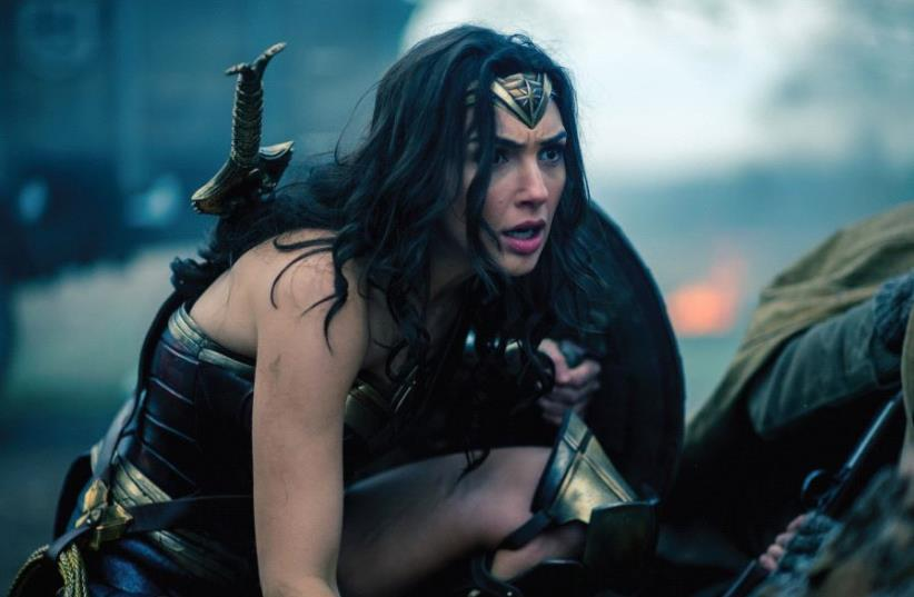 Gal Gadot stars as the fierce Amazon warrior princess out to save the world in 'Wonder Woman' (photo credit: COURTESY OF SHALMOR PR)