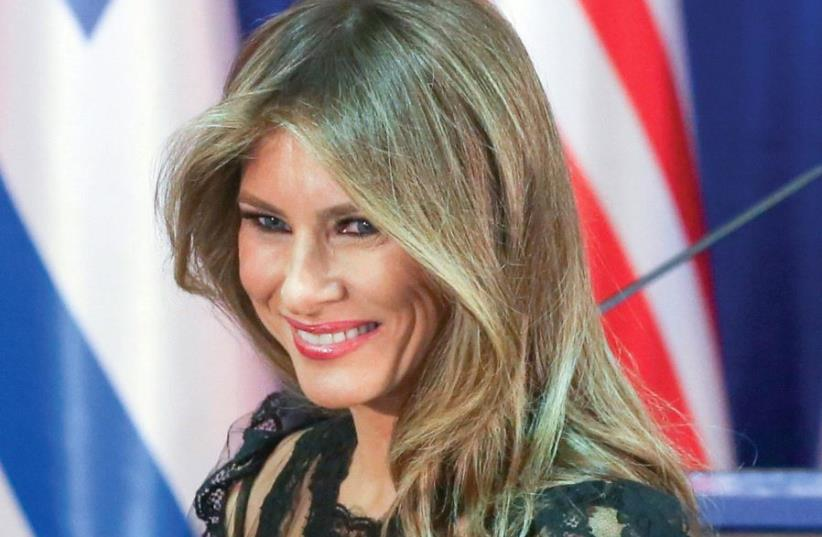 'AND NOW WE HAVE Melania Trump, a statuesque former model with impeccable taste and a figure on which even a potato sack would look sophisticated.' (photo credit: MARC ISRAEL SELLEM/THE JERUSALEM POST)