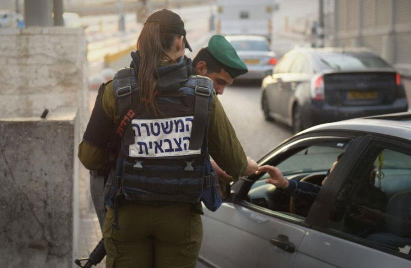 Soldiers of the IDF's Taoz Battalion at checkpoints between Israel and the West Bank (photo credit: IDF SPOKESPERSON'S UNIT)