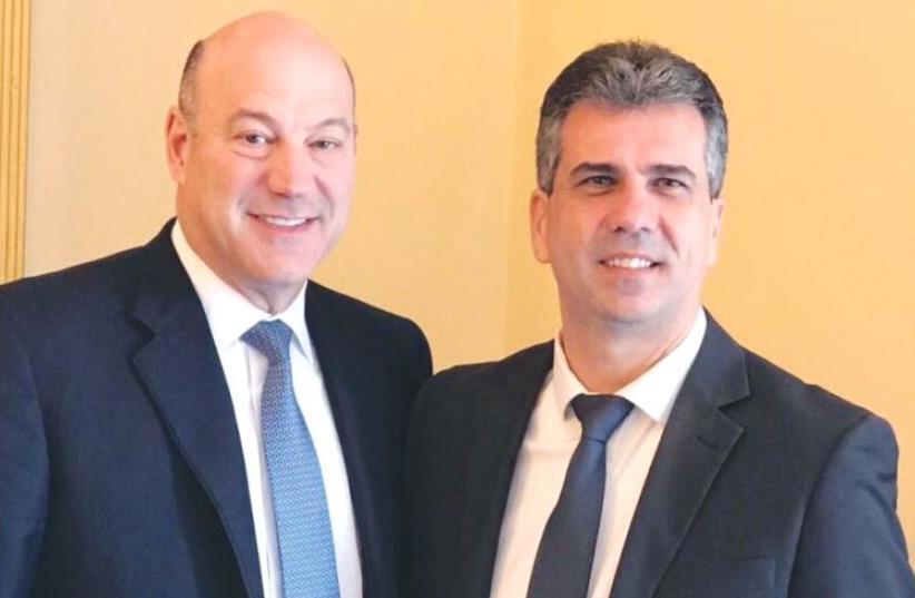ECONOMY MINISTER Eli Cohen (right) poses with Gary Cohn, US President Donald Trump's economic adviser, in Jerusalem. (photo credit: ECONOMY MINISTRY)