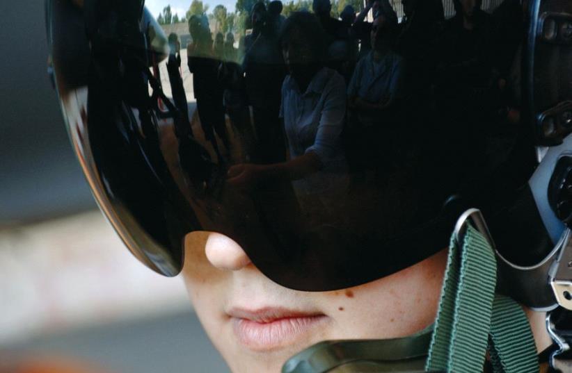 A female air force pilot at the Hatzor base (photo credit: REUTERS)