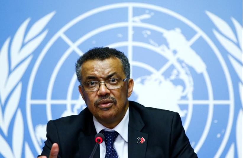 Newly elected Director-General of the World Health Organization (WHO) Tedros Adhanom Ghebreyesus attends a news conference at the United Nations in Geneva, Switzerland (photo credit: REUTERS)
