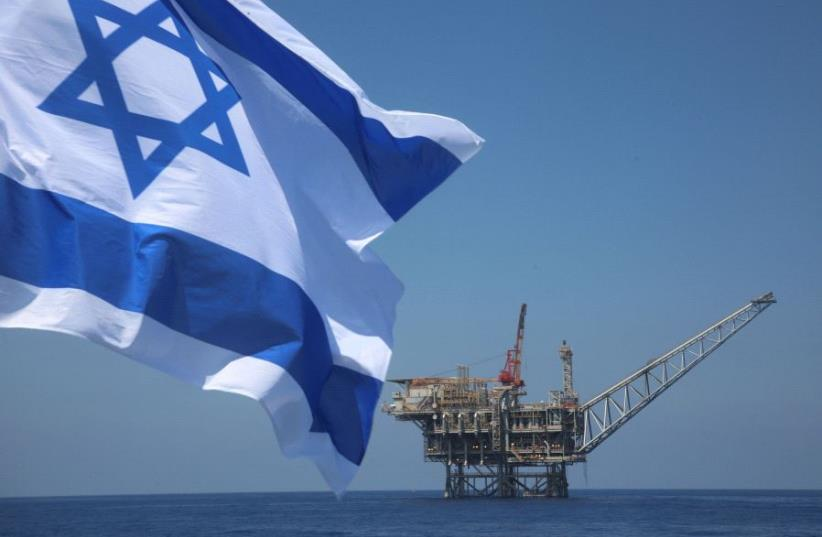 Israeli natural gas field in the Mediterranean (photo credit: MARC ISRAEL SELLEM/THE JERUSALEM POST)