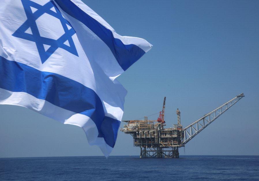 Israeli natural gas field in the Mediterranean (credit: Marc Israel Sellem)