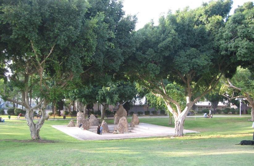 Dubnov Park in Tel Aviv (photo credit: WIKIPEDIA)
