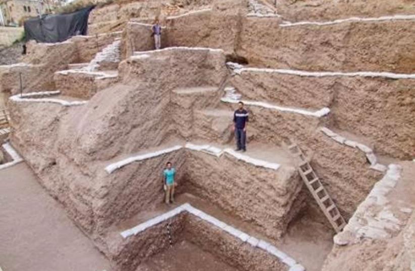 The ancient City of David landfill (photo credit: ASSAF PEREZ, COURTESY OF IAA)