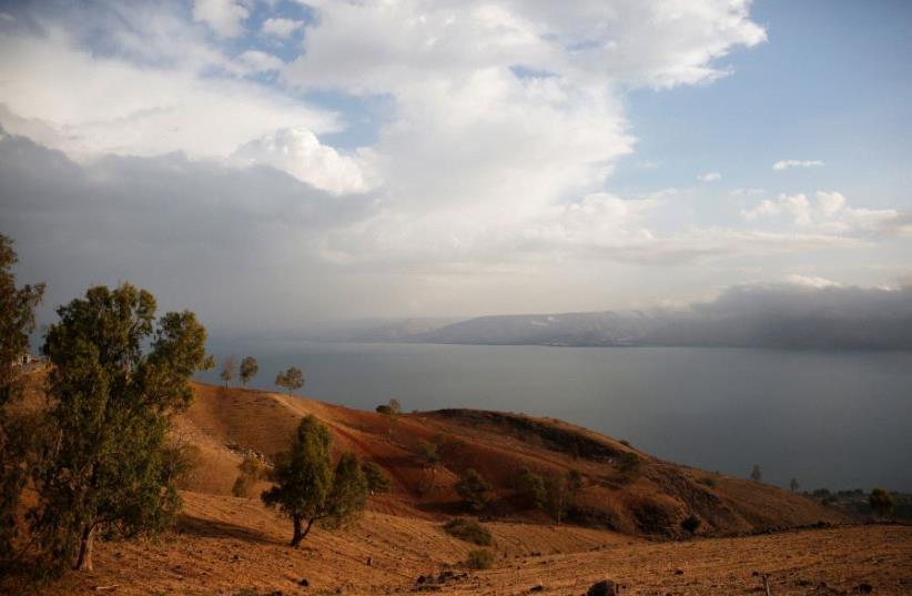 The Sea of Galilee is seen near Tiberias, Israel (photo credit: REUTERS/Ronen Zvulun)