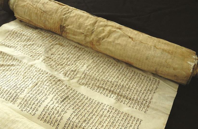 Un sefer Torah vieux de quatre siècles, trouvé dans un chantier en 2006 (photo credit: DR)