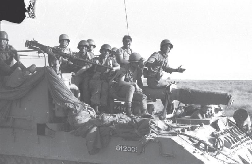 Israeli troops near Rafah during the Six Day War (photo credit: DAVID RUBINGER,GPO)