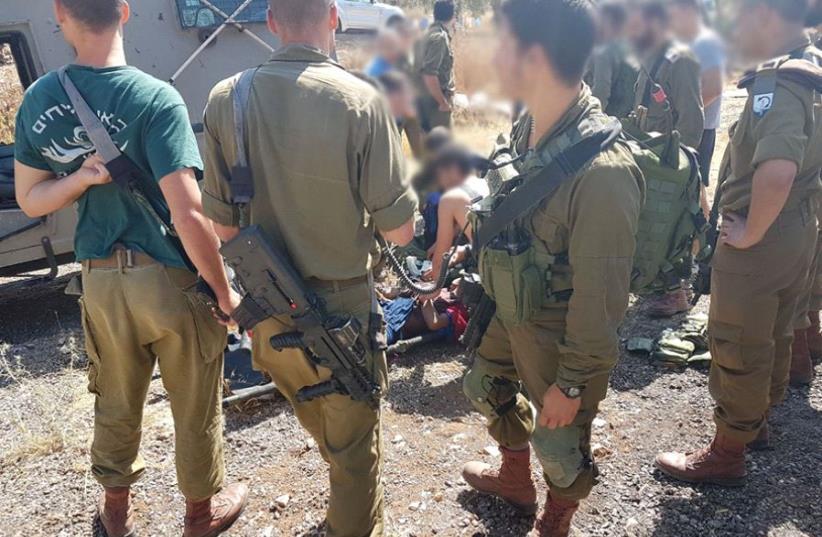 Scene of Mevo Dotan stabbing attack (photo credit: SAMARIA REGIONAL COUNCIL)