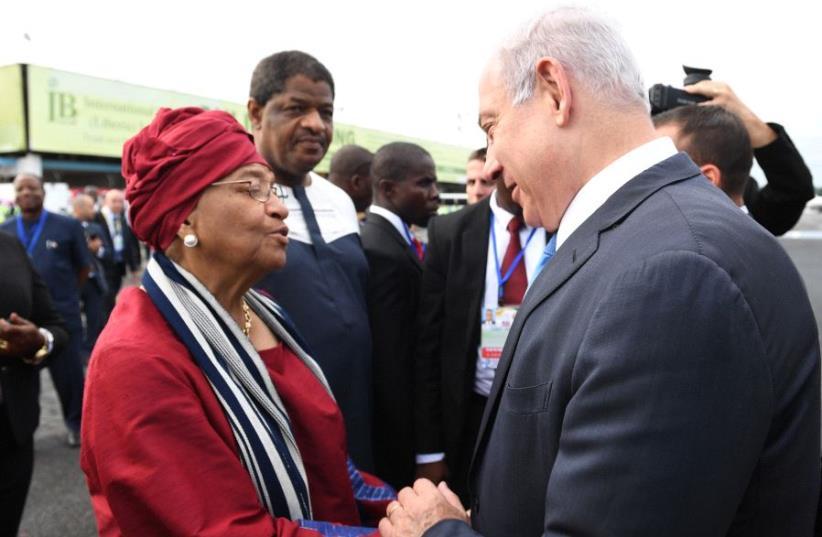 PM Netanyahu in Liberia (photo credit: KOBI GIDEON/GPO)