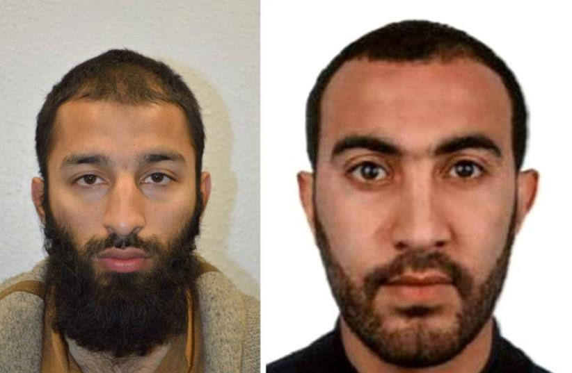 Khuram Shazad Butt (Left) and Rachid Redouane (Right), two of the three attackers in London  (photo credit: HANDOUT/REUTERS)