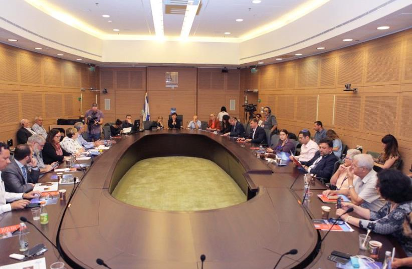 The Knesset Committee for Immigration, Absorption and Diaspora Affairs holds a meeting  to hail the Genesis Prize on Monday June 5, 2017 (photo credit: NATASHA KUPERMAN)