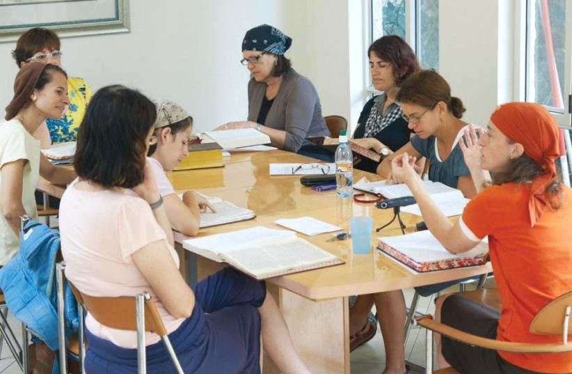 One Daf Yomi class for women (photo credit: ARDON BAR-HAMA)