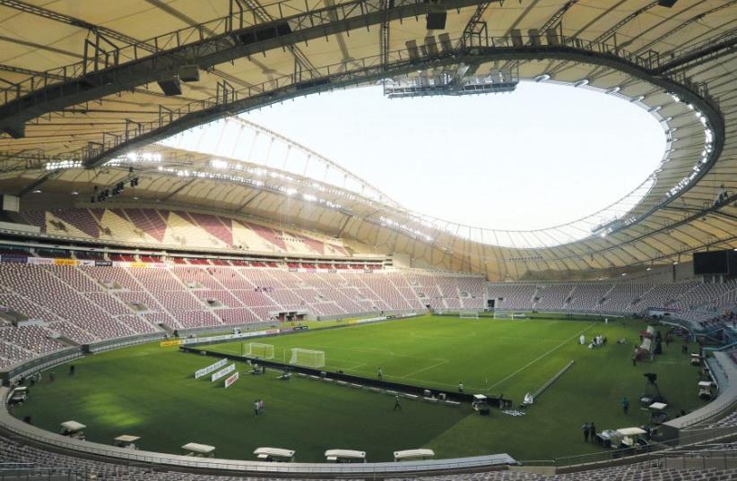 The Khalifa International Stadium in Doha in May (photo credit: REUTERS)