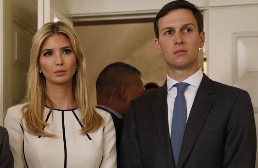 Ivanka Trump and Jared Kushner. (photo credit: KEVIN LAMARQUE/REUTERS)