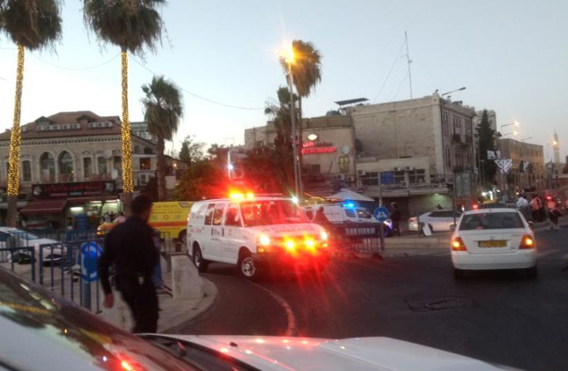 Scene of Jerusalem terror attack (photo credit: COURTESY ISRAEL POLICE)