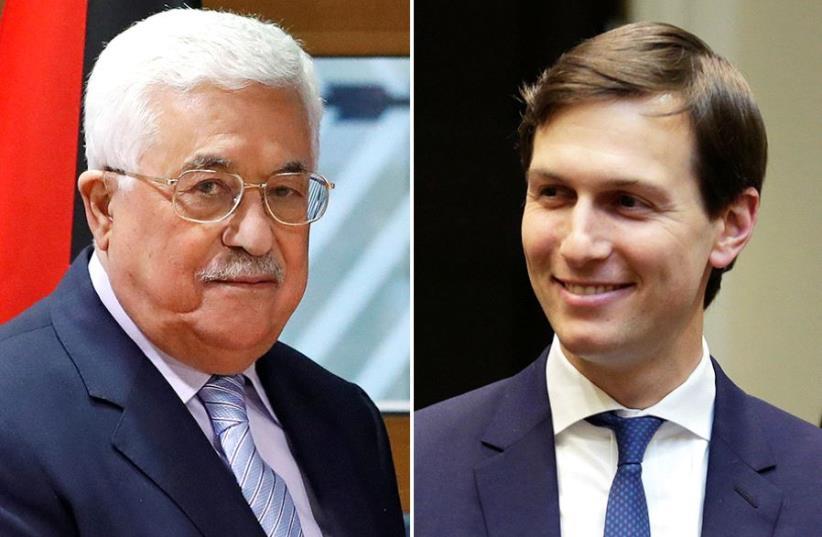 Abbas and Kushner (photo credit: REUTERS)