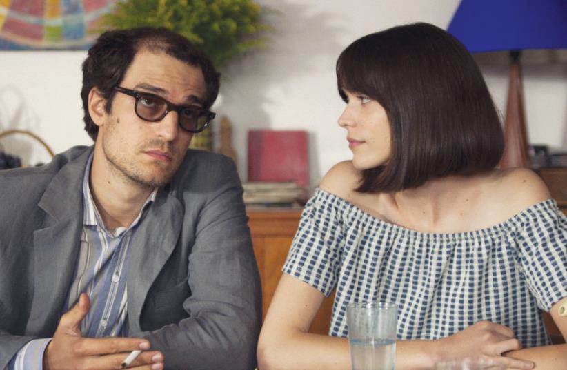 LOUIS GARREL (left) and Stacy Martin in Michel Hazanavicius's 'Redoubtable.' (photo credit: Courtesy)