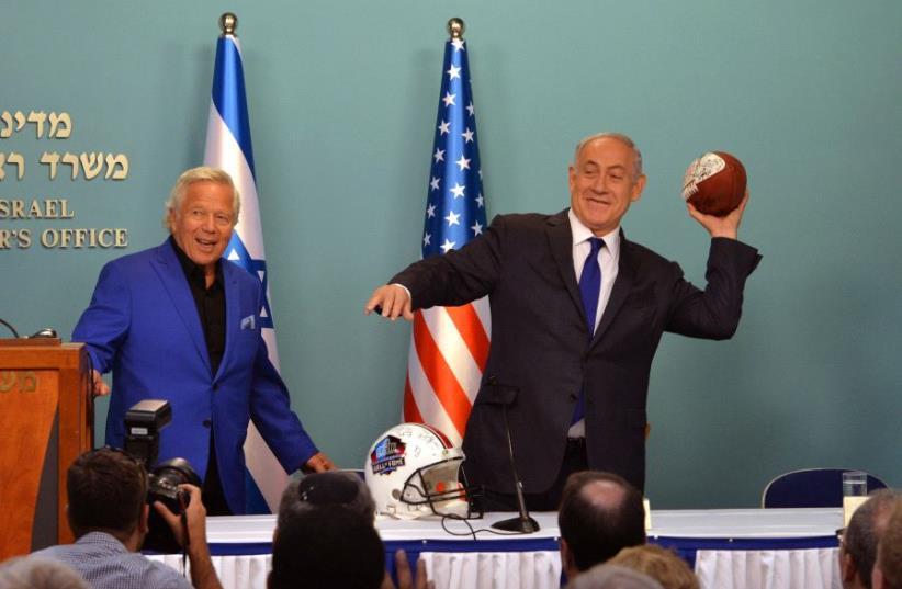 Netanyahu and Robert Kraft (photo credit: PMO)