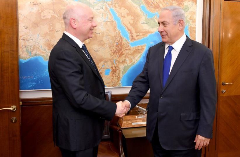Jason Greenblatt Meets PM Netanyahu (photo credit: MATTY STERN, US EMBASSY TEL AVIV)