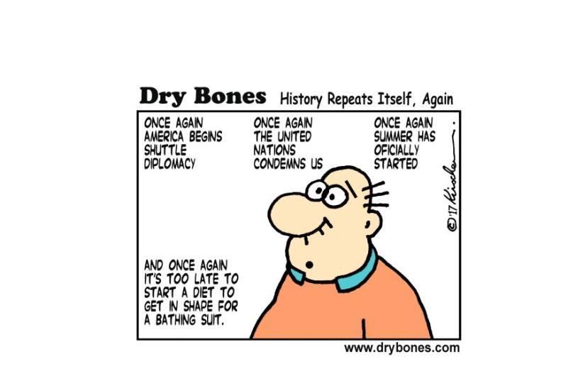 Dry bones June 21, 2017 (photo credit: YAAKOV (DRYBONES) KIRSCHEN)