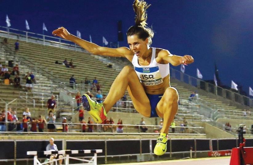 Israeli triple-jumper Hanna Knyazyeva-Minenko (photo credit: UDI ZITIAT)