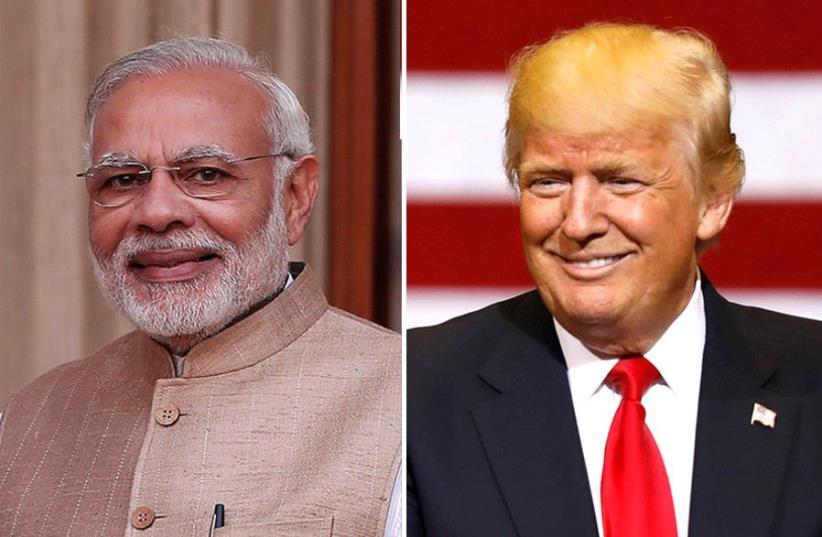 Modi and Trump (photo credit: REUTERS)